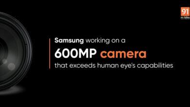 سامسونگ در حال کار بر روی یک سنسور 600 مگاپیکسلی است